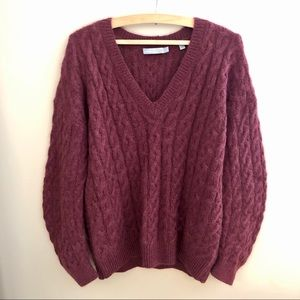 SALE Vince Cableknit V-Neck Pullover Sweater